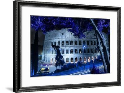 Dolce Vita Rome Collection - Colosseum at Blue Night-Philippe Hugonnard-Framed Photographic Print