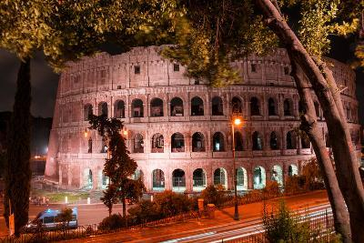 Dolce Vita Rome Collection - Colosseum at Red Night-Philippe Hugonnard-Photographic Print
