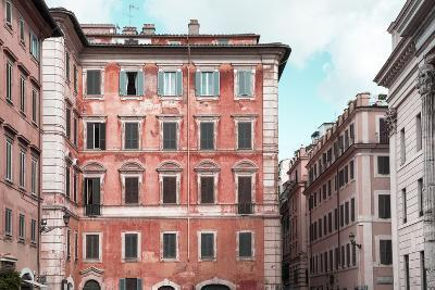 Dolce Vita Rome Collection - Coral Buildings Facade-Philippe Hugonnard-Photographic Print