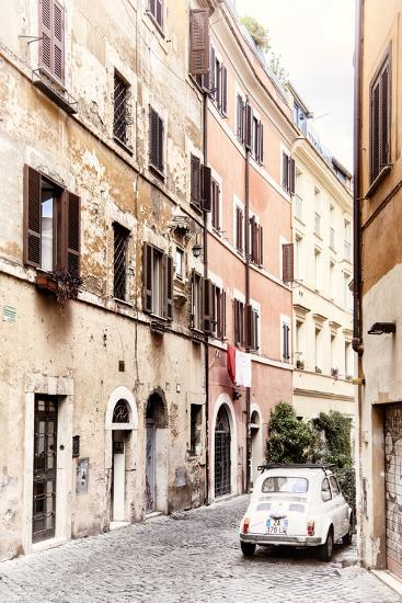 Dolce Vita Rome Collection - Fiat 500 in Rome-Philippe Hugonnard-Photographic Print