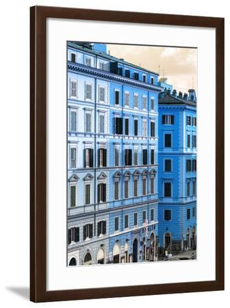 Dolce Vita Rome Collection - Italian Blue Facade-Philippe Hugonnard-Framed Photographic Print