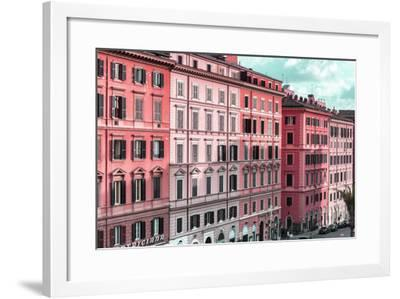 Dolce Vita Rome Collection - Italian Dark Pink Facades-Philippe Hugonnard-Framed Photographic Print