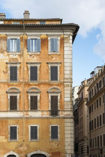 Dolce Vita Rome Collection - Orange Buildings Facade II-Philippe Hugonnard-Photographic Print