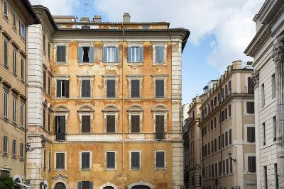 Dolce Vita Rome Collection - Orange Buildings Facade-Philippe Hugonnard-Photographic Print