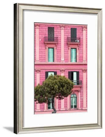 Dolce Vita Rome Collection - Pink Building Facade II-Philippe Hugonnard-Framed Photographic Print