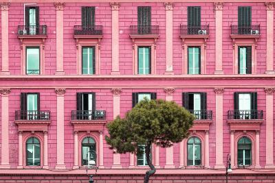 Dolce Vita Rome Collection - Pink Building Facade-Philippe Hugonnard-Photographic Print