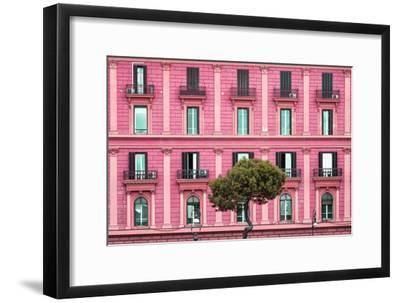 Dolce Vita Rome Collection - Pink Building Facade-Philippe Hugonnard-Framed Photographic Print