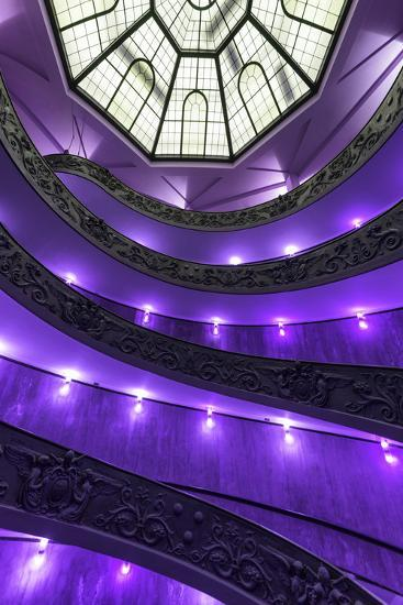 Dolce Vita Rome Collection - Purple Vatican Staircase-Philippe Hugonnard-Photographic Print