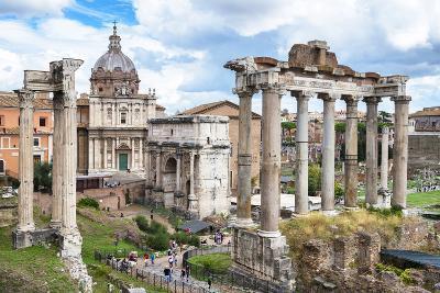 Dolce Vita Rome Collection - Roman Columns Rome II-Philippe Hugonnard-Photographic Print
