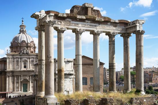 Dolce Vita Rome Collection - Roman Columns Rome-Philippe Hugonnard-Photographic Print