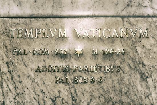 Dolce Vita Rome Collection - Templvm Vaticanvm-Philippe Hugonnard-Photographic Print