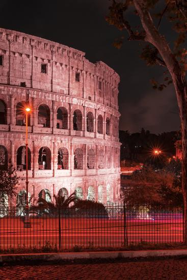 Dolce Vita Rome Collection - The Colosseum Red Night II-Philippe Hugonnard-Photographic Print