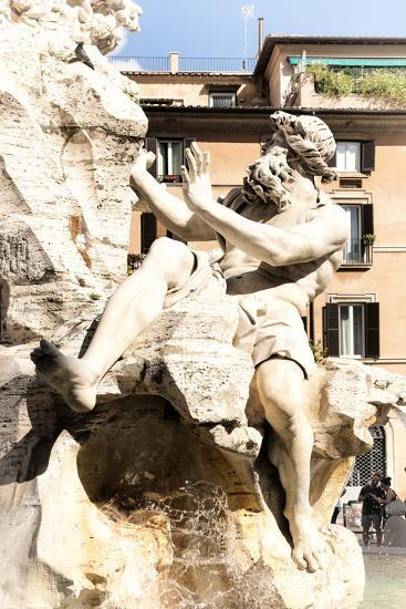 Dolce Vita Rome Collection - The Four Rivers Fountain in Piazza Navona II-Philippe Hugonnard-Photographic Print