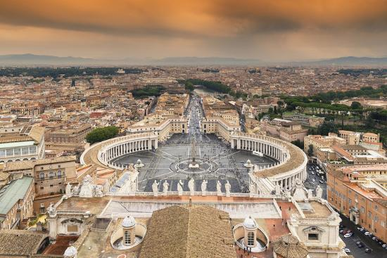 Dolce Vita Rome Collection - The Vatican City at Sunset-Philippe Hugonnard-Photographic Print