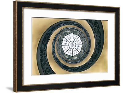 Dolce Vita Rome Collection - The Vatican Spiral Staircase Dark Beige-Philippe Hugonnard-Framed Photographic Print