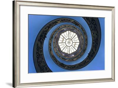 Dolce Vita Rome Collection - The Vatican Spiral Staircase Dark Blue-Philippe Hugonnard-Framed Photographic Print