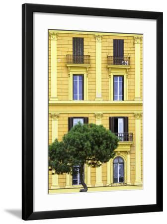 Dolce Vita Rome Collection - Yellow Building Facade II-Philippe Hugonnard-Framed Photographic Print