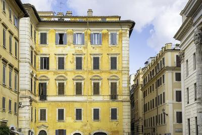 Dolce Vita Rome Collection - Yellow Buildings Facade-Philippe Hugonnard-Photographic Print