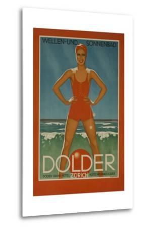 Dolder Grand Hotel Zurich Switzerland Travel Poster Wellen-Und Sonnenbad