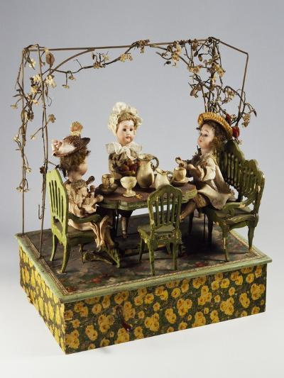 Dolls' Tea Party, Music Box, Germany, Late 19th Century--Giclee Print