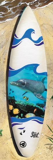 Dolphin Board-Scott Westmoreland-Art Print