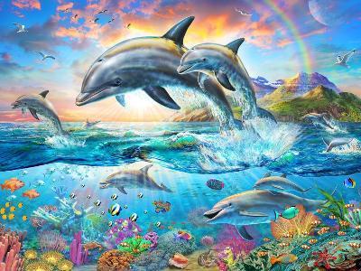 Dolphin Family-Adrian Chesterman-Art Print