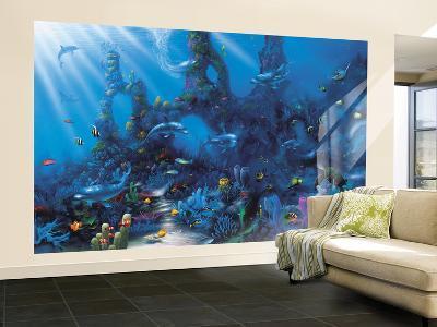 Dolphin Paradise--Wallpaper Mural