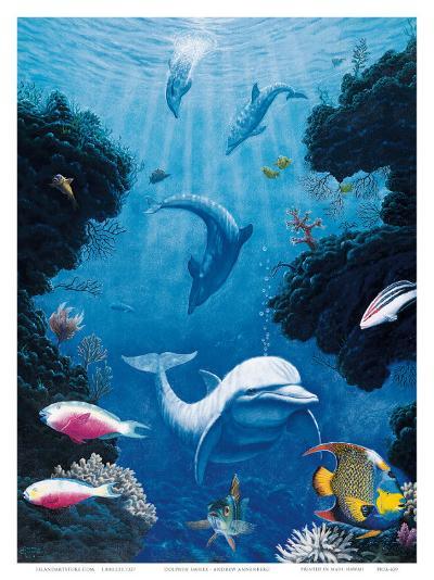 Dolphin Smiles-Andrew Annenberg-Art Print