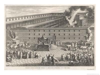 Solomon Having Built the Temple of Jerusalem Dedicates It to the Lord