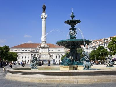 Dom Pedro Monument in the Rossio District, Lisbon, Portugal, Europe-Richard Cummins-Photographic Print