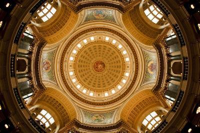 Dome in the Wisconsin State Capitol-Paul Souders-Photographic Print