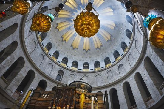 Dome Interior in the Church of the Holy Sepulchre-Jon Hicks-Photographic Print