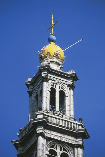 Dome of Bell Tower of Westerkerk--Photographic Print