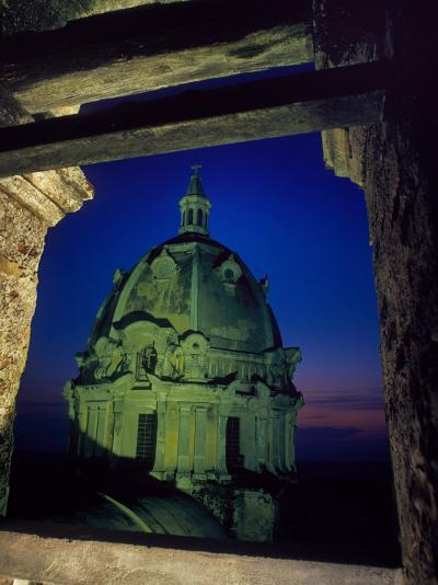 Dome of San Pedro Claver Rises Above Old Cartagena, Colombia-O^ Louis Mazzatenta-Photographic Print