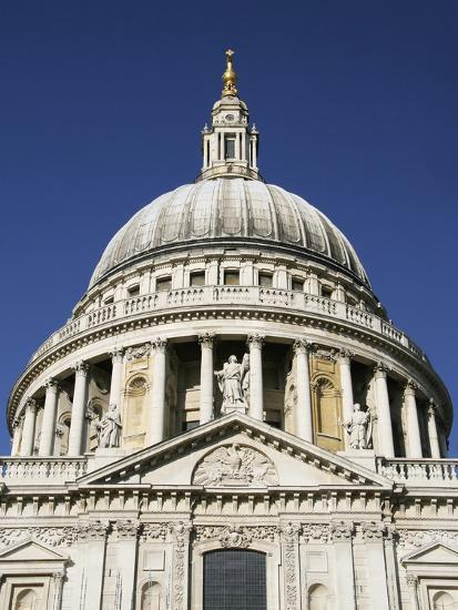 Dome of St Pauls Cathedral, Close Up-Design Pics Inc-Photographic Print