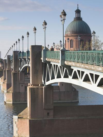 Dome of the Hopital De La Grave and Pont St-Pierre Bridge, Toulouse, Midi-Pyrenees Region, France--Photographic Print