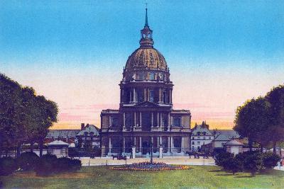 Dome of the Invalides, from 'Souvenirs De Paris - Monuments Vues En Couleurs'--Giclee Print