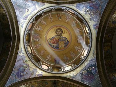 Dome of the Katholikon Greek Orthodox Church in the Church of the Holy Sepulchre, Jerusalem-Godong-Photographic Print