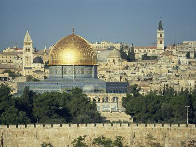 Dome of the Rock and Temple Mount from Mount of Olives, Jerusalem, Israel, Middle East-Simanor Eitan-Photographic Print