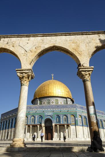Dome of the Rock Mosque, Temple Mount, UNESCO World Heritage Site, Jerusalem, Israel, Middle East-Yadid Levy-Photographic Print