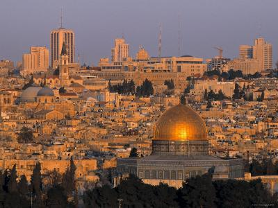 Dome of the Rock, Old City, Jeruslaem, Israel-Jon Arnold-Photographic Print