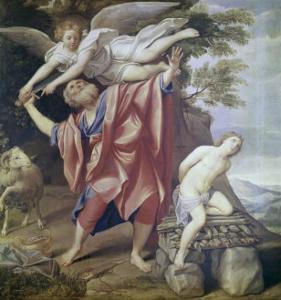 Abraham Sacrificing Isaac by Domenichino