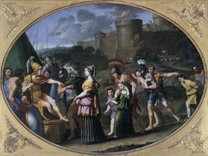 Alexander and Timoclea at Thebes, Ca 1615 by Domenichino