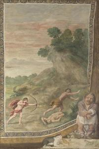 Apollo Killing the Cyclops (Fresco from Villa Aldobrandin), 1617-1618 by Domenichino