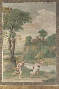 Apollo Pursuing Daphne (Fresco from Villa Aldobrandin), 1617-1618 by Domenichino