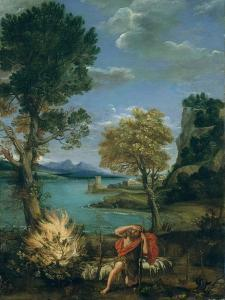 Landscape with Moses and the Burning Bush, 1610-16 by Domenichino