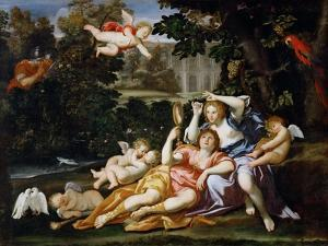 Rinaldo Presents Armida with a Mirror by Domenichino