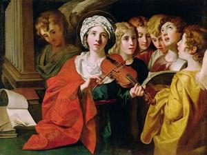 St. Cecilia with a Choir by Domenichino