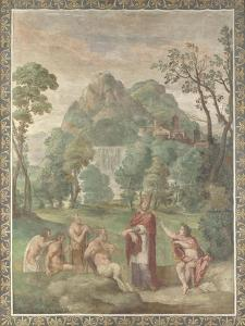 The Judgement of Midas (Fresco from Villa Aldobrandin), 1617-1618 by Domenichino
