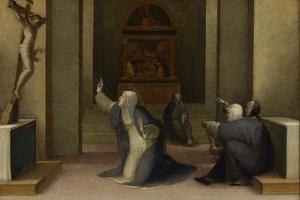 Saint Catherine of Siena Receiving the Stigmata, c.1513-15 by Domenico Beccafumi
